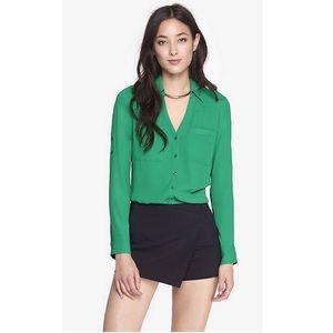 Express The portofino Shirt Slim Fit Green Medium
